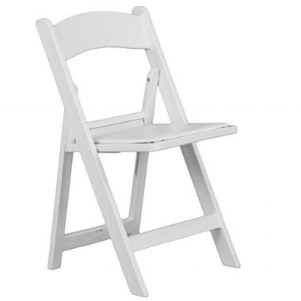 White Resin Deluxe Folding Chairs