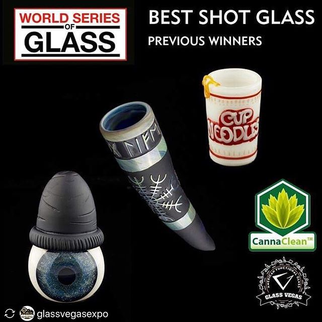 #repost_easily @glassvegasexpo ****** Special Thanks to @cannaclean_ for sponsoring the @elimazet Best shot glass category for 2019 !!! Register today for Glass Vegas's World Series of Glass which recognizes the best in Boro glass pieces of the year! 😊🏆 The rules are as follows: • There is a $25 per piece entry fee, please bring in cash or card • Entries must be brought to the Westgate on Monday, February 11 between 12 Noon and 6 pm to be installed in the showcases • First come, first displayed until the cases are full • All artists must be present at the show, only pieces entered by the artists will be accepted • Artists do not have to be exhibitors to enter the competition, but must register at the show as Artists to obtain an entry badge • Collaboration can be done in every category except the solo category. • Winners will be announced on Wednesday, February 13, 2019 @ 6PM • Entries must stay in the WSOG display area until the awards on Wednesday 2/13 @ 6:30 pm • All entries must be picked up after 6:30PM but before 8PM on Wednesday, February 13, 2019  You can register here: https://glass.vegas/world-series-of-glass/  We are excited to see all of your amazing pieces! 🥰  #WorldSeriesofGlass #WSOG #glassvegas #glassvegas2019 #worldseriesofglass #glassvegasexpo #glassblowing #glassartists #glassart #glassartshow #glasscompetition #glassartist #artist #glassblower #headyglass #headyglassart #glassgallery #bestglass #bestofglass #worldofbongs  #headshop #headshops #businesstobusiness #glassconvention #wsogwinners #bestshotglass #wsogbestshotglass  #shotglasscompetition