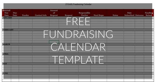 Fundraising Calendar Template Capacity Building Consulting