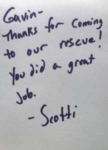 Carpet Cleaning Thank You Note