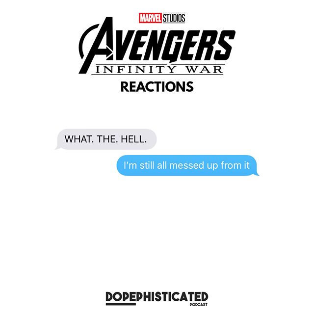 drop your reaction in the comments • • • • Listen to our newest episode where we give our immediate reaction to the film. We went in with high hopes and came out mentally unstable. • • • • #dope #orlandopodcast #podcast #apple #episode #stitcherradio #overcast #tunein #avengers #avengersinfinitywar #marvelmemes #marvel #marvelcinematicuniverse #ironman #thanos #blackpanther #wakandaforever #thanosdemandsyoursilence #captainamerica #nickfury #review #reaction #moviereview #movies #film #comics #spoilers #instalike #instagood #photooftheday