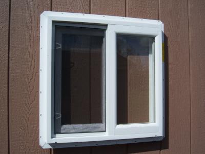2x2 xo White Vinyl Slider Window -
