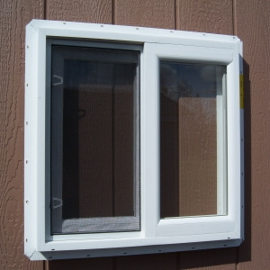 2x2 White Vinyl Slider Window