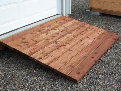 Cedar Ramp or Pressure Treated Ramps -
