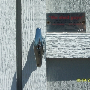 Chrome 'T' Door Handle