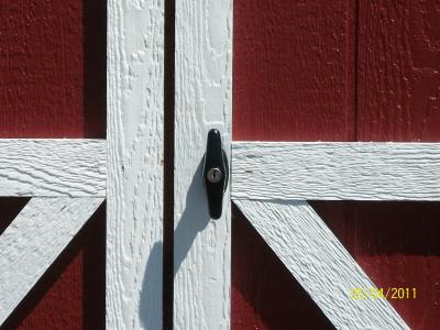 Black 'T' Door Handle -