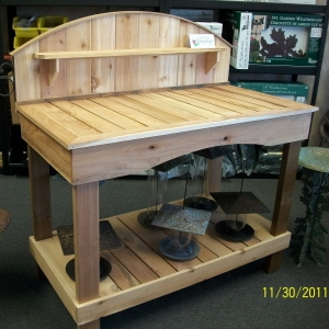 Rogue Cedar Arched Potting Bench