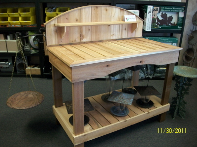 Rogue Cedar Arched Potting Bench -