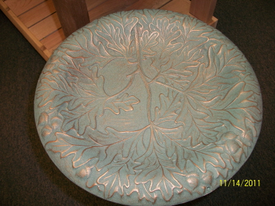 Oakleaf Birdbath Pedestal - Verdigris 1_Lrg.jpg