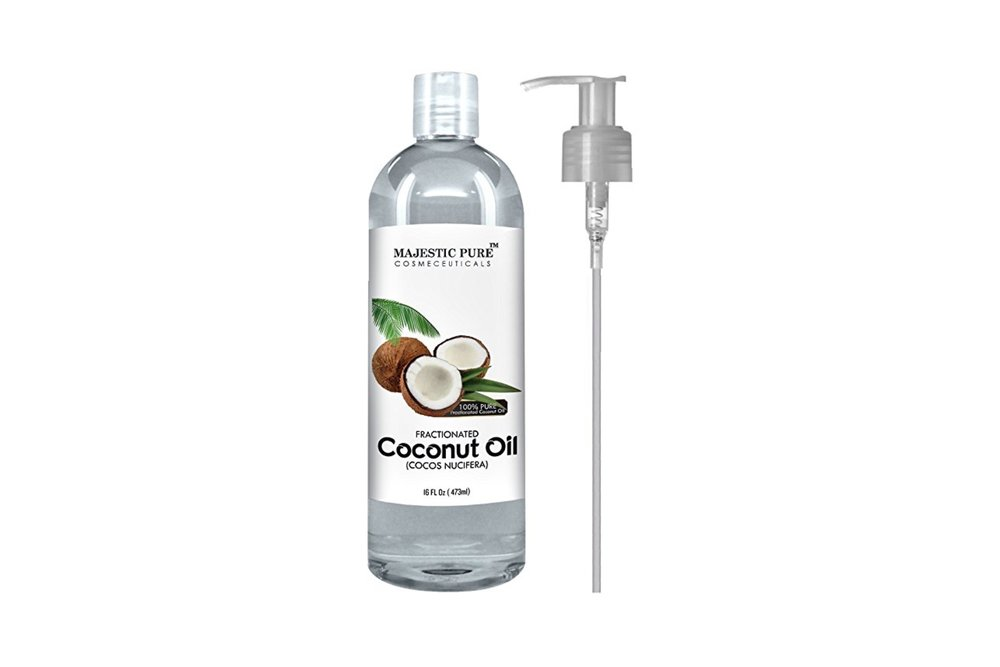 Majestic Pure Fractionated Coconut Oil, For Carrier Oil for Diluting Essential Oils