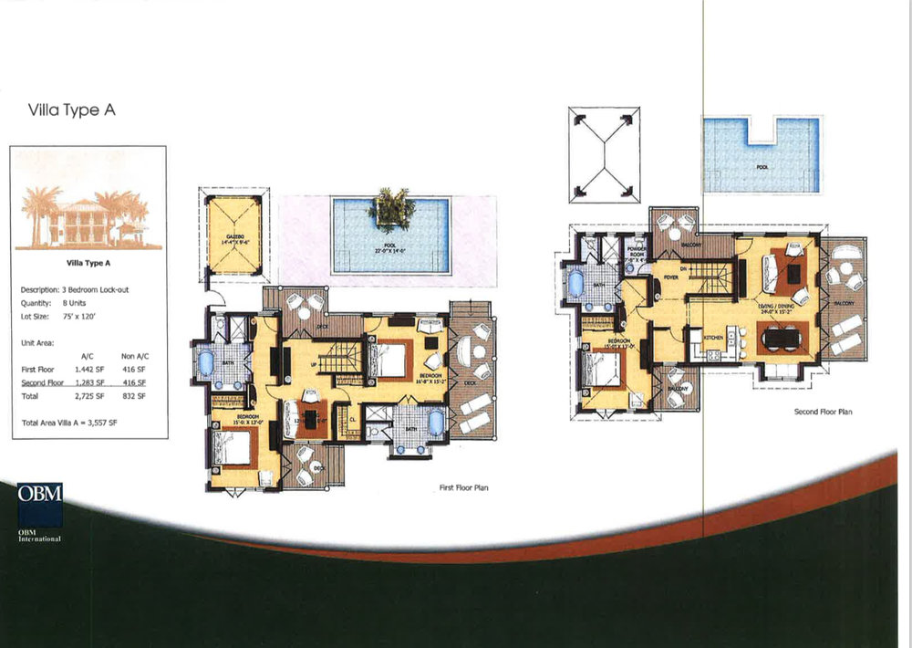 Villa Type B Floor Plan