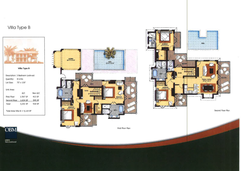 Villa Type C Floor Plan