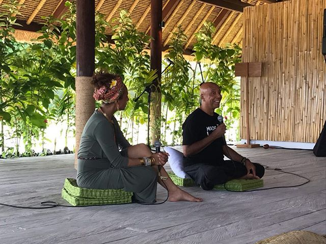"What an inspiring day it was yesterday at Global Consciousness @tounche_summit where changemakers gathered on beautiful Kura Kura ""Happiness Island"" 🐢 for an open dialogue on #sacredleadership and inspired action to co-create a more loving, compassionate world. It was an incredible lineup of speakers including @unclerush (!) and a day of letting go of my fears around activism, connecting with your heart's desire, healing and inspirational sharing...with discussions on #authenticity, #vulnerability, #courage and ACTION. I was particularly touched by the words of wisdom from @sisunotsilence - thank you for sharing and for giving me courage. 🙏🏻⁣ ⁣ Blessed to be participating with @jorisvanbalkom, dear friends @theveganedit @madamelegall and like-minded souls. I'm still feeling the waves of inspiration in my heart! I've realize these last few weeks that it can be quite a profound experience to share a sacred space with others who believe change is possible...those who have overcome, with the courage and vulnerability to shine their light, speak their truth, take action and ""walked their talk"" with loving compassion, to remind us all of who we truly are, and what we are capable of. ✨ ⁣ #shiftwithin #tounche #tounchebali2019 #liveinspired #consciousliving #communityforchange #blessed"