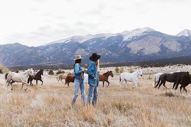 Magical mornings at Zapata Ranch, with @__carolineventura and @brass__tacks for our latest campaign. Ps. Most styles now back in stock! link in bio