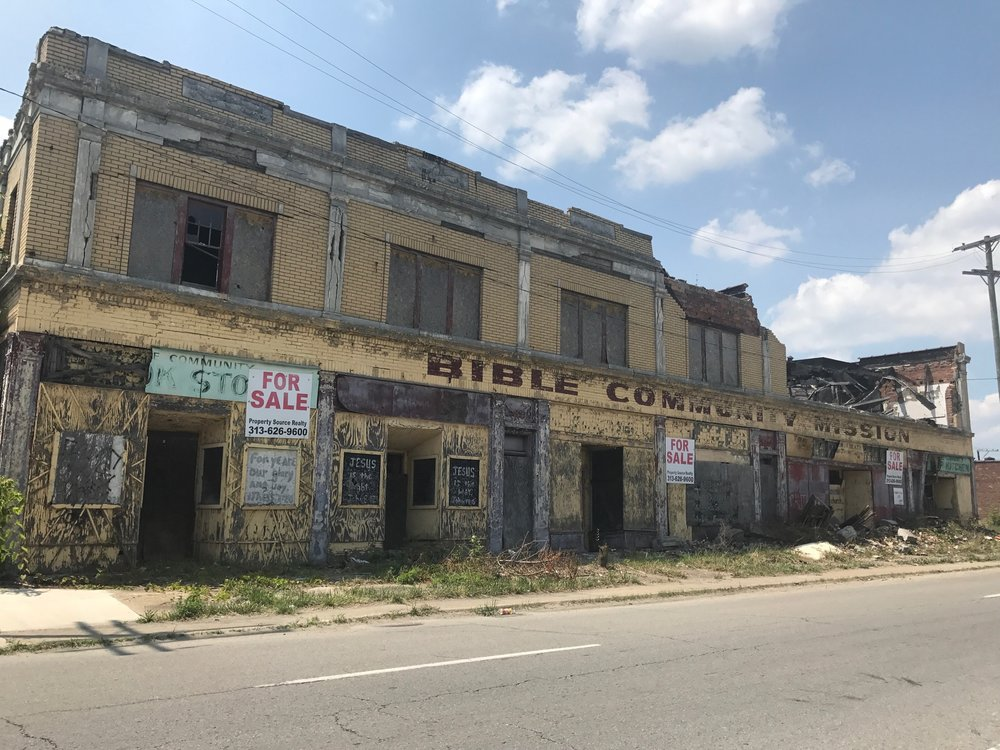 Dilapidated structures of Detroit