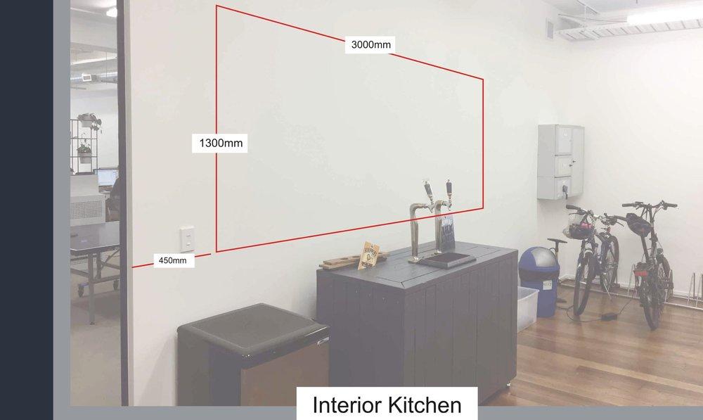 Interior kitchen measurements