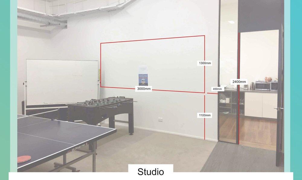 Studio measurements