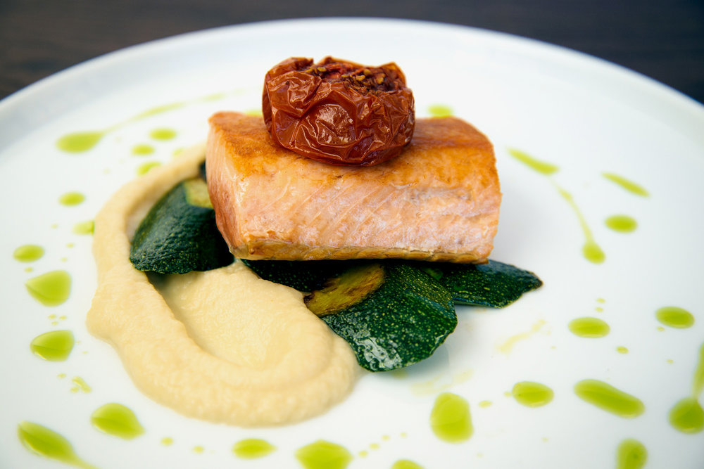 salmon over pomme puree and zucc.jpg