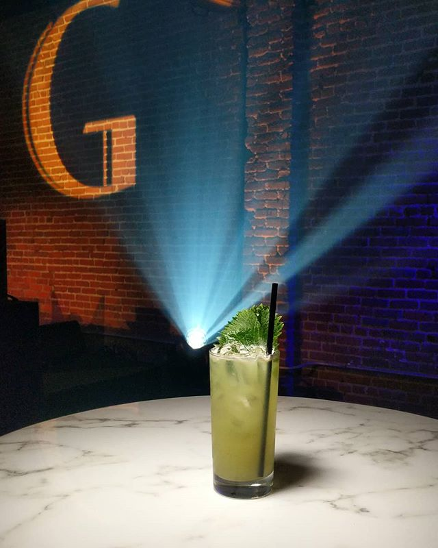 The Stage G. @ketelone shiso, cucumber, ginger, lime, shish leaf. Created by @wldeco #shotatgoya for their Grand Opening