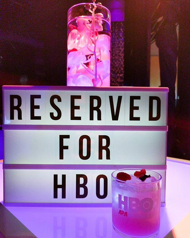 Our Visionary cocktail made with @herradurateq ginger, lime, and smoke mist for the APA Visionaries event for HBO. #hbovisionaries