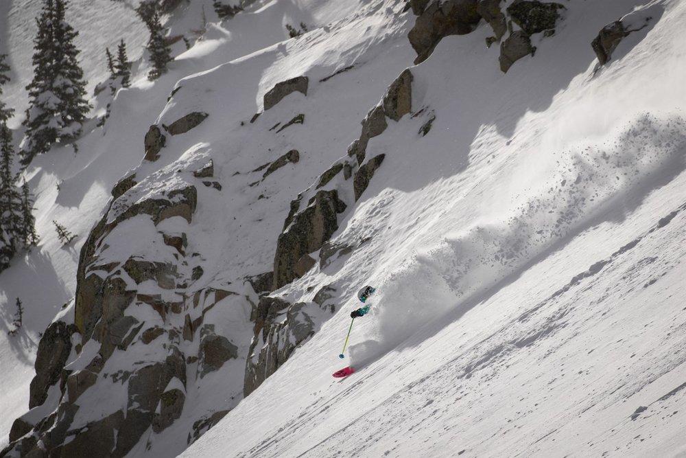The Ski City Super Pass includes Alta, Snowbird, Solitude—and moments like this one at Brighton.  Steve Lloyd | courtesy Visit Salt Lake