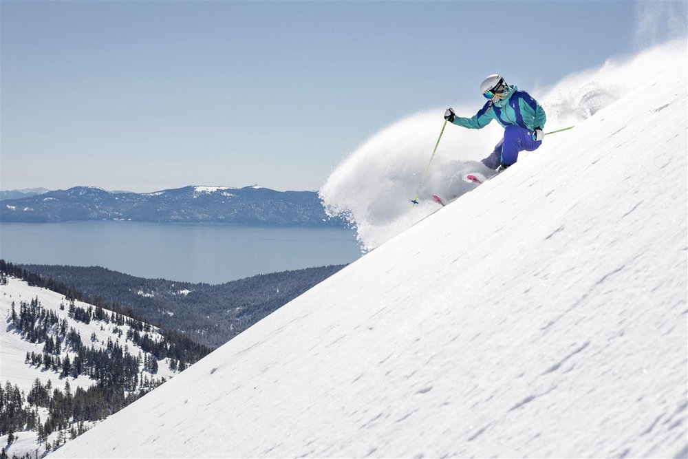 Alpine Meadows and its gorgeous Lake Tahoe views are located 20 minutes from downtown Truckee.  Courtesy Squaw Valley-Alpine Meadows
