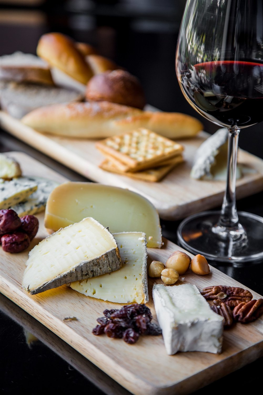 Basalt 's cheese platters are popular for apres-ski as well as late night eats.  Dreamstime