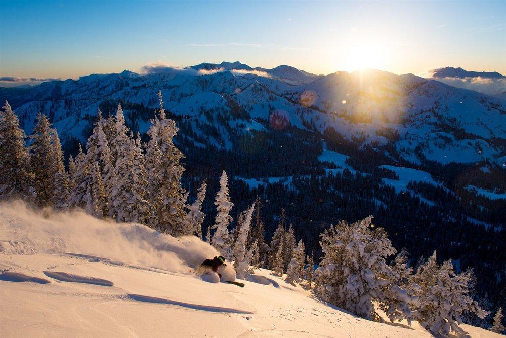The Utah ski buzz (at Brighton).  Courtesy Visit Salt Lake