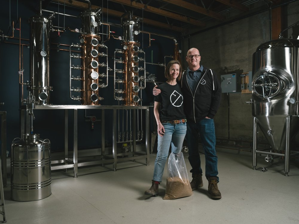 Jillian Rutherford and Andrew Hayden dreamed of moving from Calgary to Fernie—and wanted to foster and support the community's economic diversity in the process. While launching the distillery, they worked extensively with skilled tradespeople, artisans and other small businesses in Fernie. Going forward, watch for one-of-a-kind dinners with local chefs, featuring pairings of food and spirits.  Kyle Hamilton | birr | Courtesy Fernie Distillers