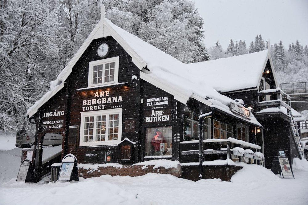 Åre's funicular, the Bergbana, has been ferrying sightseers and skiers up Mount  Å reskutan since 1910.  Lisa Johansson |    Åre 2019