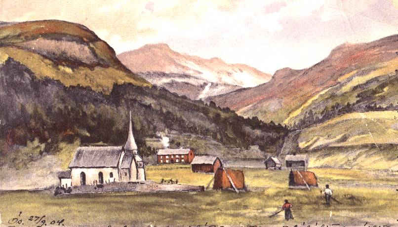 Åre's history runs deep. This postcard dated 1904 shows structures that still stand today.   Wikimedia Commons