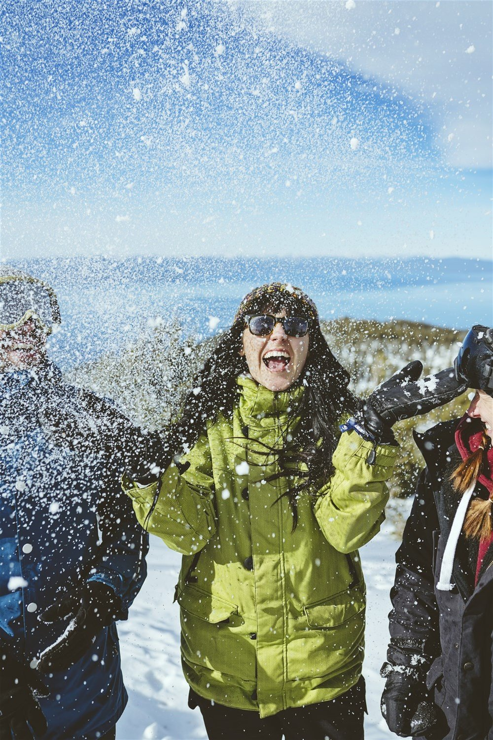 Heavenly  is Tahoe's largest and most visited ski and snowboard resort, and also is popular for sightseeing and snowplay. The mountain offers gorgeous views of Lake Tahoe's dazzling blue expanse.  Courtesy Vail Resorts