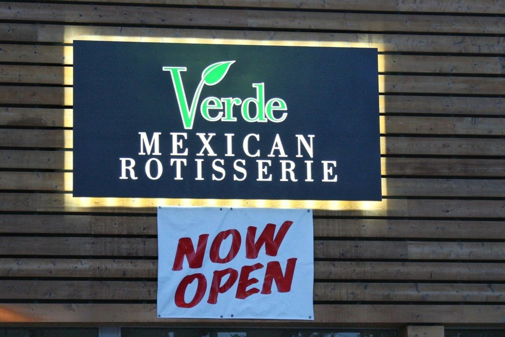 """Verde—like so many other delicious South Lake Tahoe food discoveries—is located in an outdoor shopping mall. Find Verde on the south end of town at the """"Y"""" (the junction of Highways 50 and 89).  © Ski Travel Guru"""