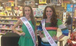 Grace and her best friend Morgan Reynolds raising money at a local BI-LO!