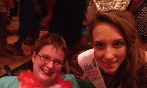 "Grace with an amazing student at TL Hanna at the ""Come Dream With Me"" prom!"""