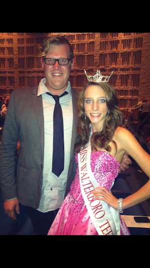 Grace with the amazing and talented Brantley Gentry at the   Miss Spartanburg Pageant!