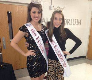 Grace and Miss Walterboro,   Amanda Bishop, at the Miss Mauldin  Pageant.