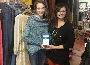 "A BIG thank you to Valerie Flynn for being a business partner! She has a jar located in her business ""Valerie's Treasure Chest"" where she gains support and funds for ""Pennies4Preemies."""