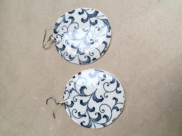 Large Blue Florentine Drop - $30