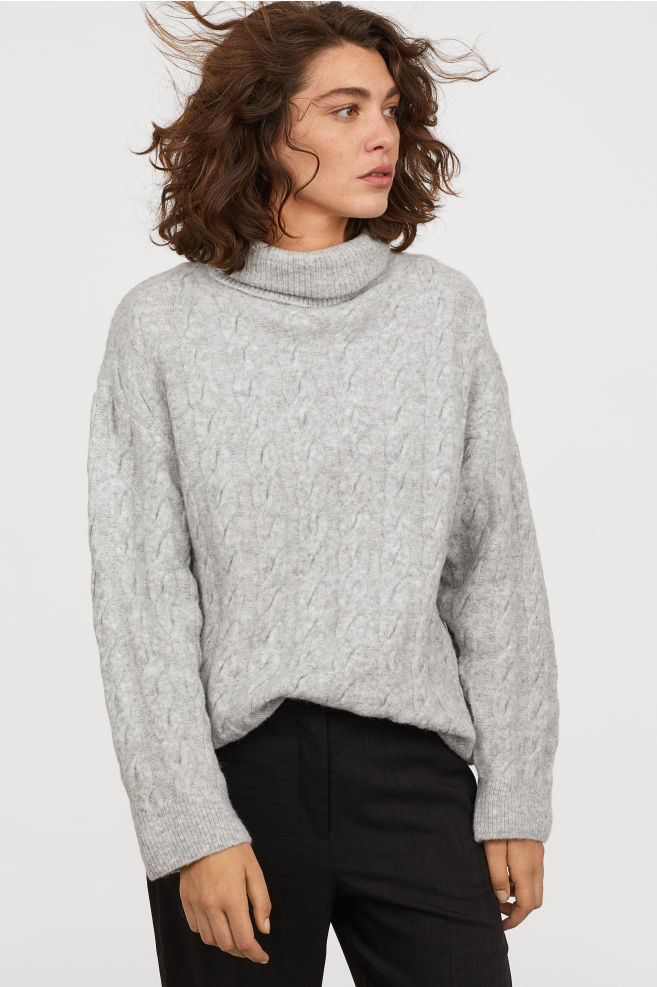 Cable Turtleneck
