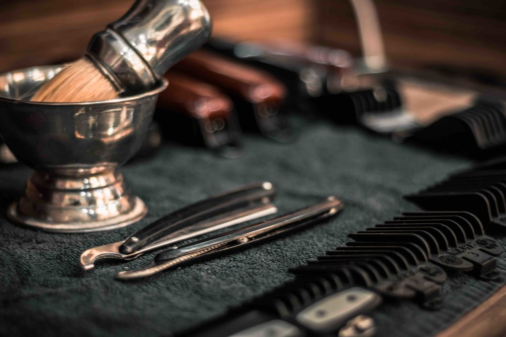 straight blade razor shave men