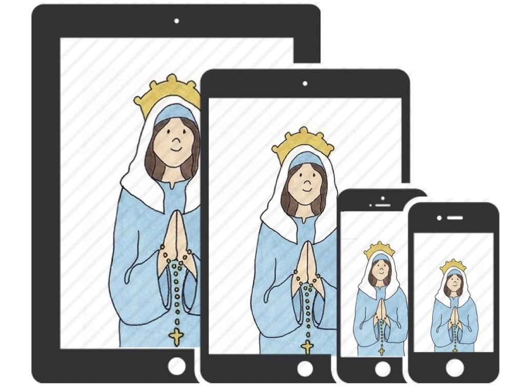 Bead by Bead Rosary Books App. A Catholic children's prayer book app with illustrations for every bead of the Rosary. Includes all four Mysteries: Joyful Mysteries, Luminous Mysteries, Sorrowful Mysteries and Glorious Mysteries. In English and Spanish.