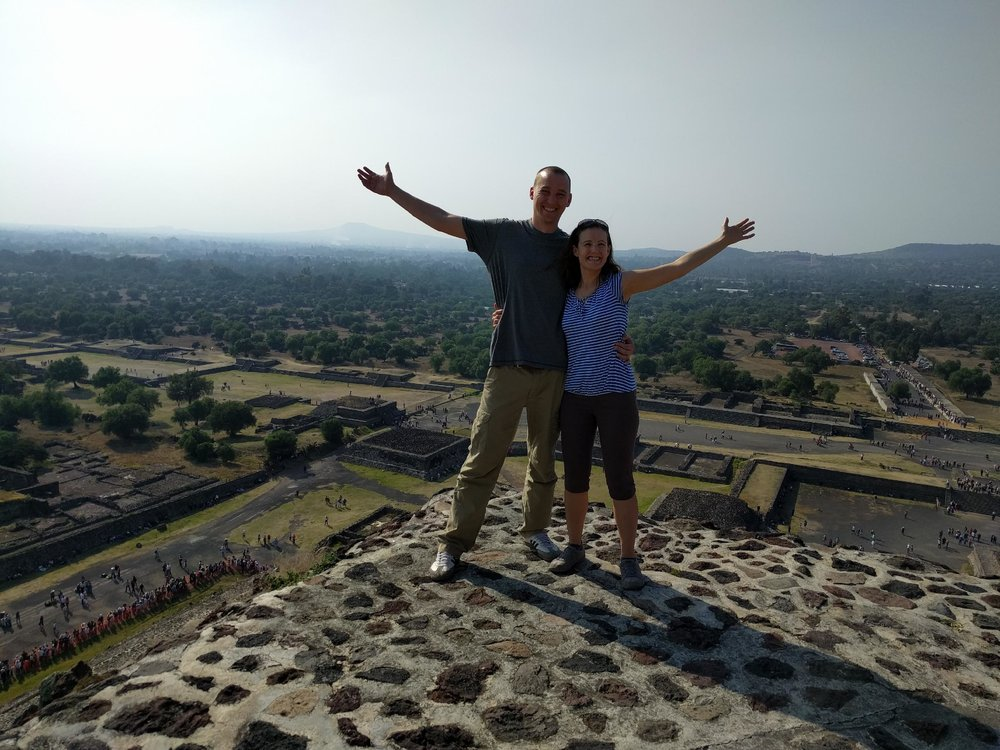 Amelia and David are quite the world travelers themselves. This was taken last year in Teotihuacan, Mexico.