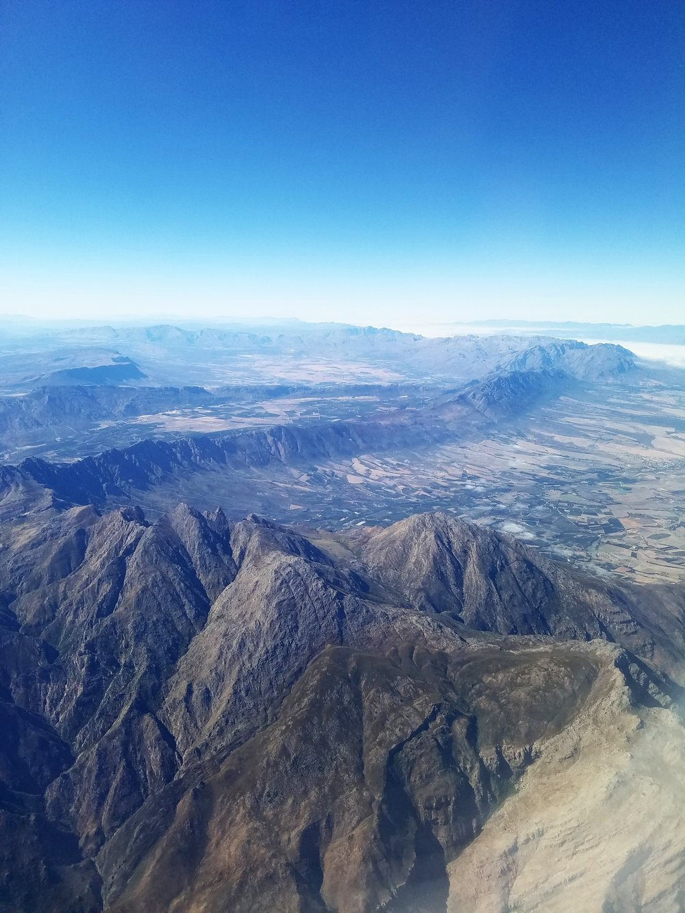 My view from the plane!