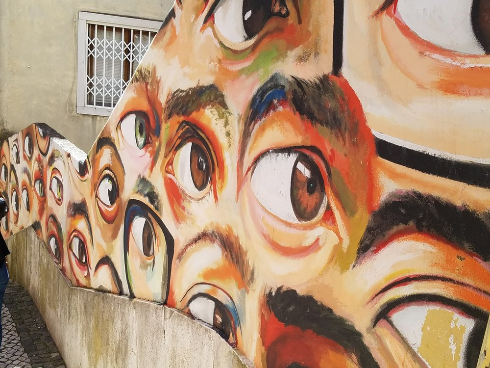 alfama lisbon lisboa portugal street art graffiti