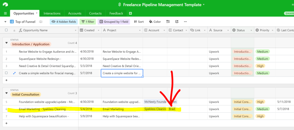 Manage your freelance pipeline better for free with this template ...