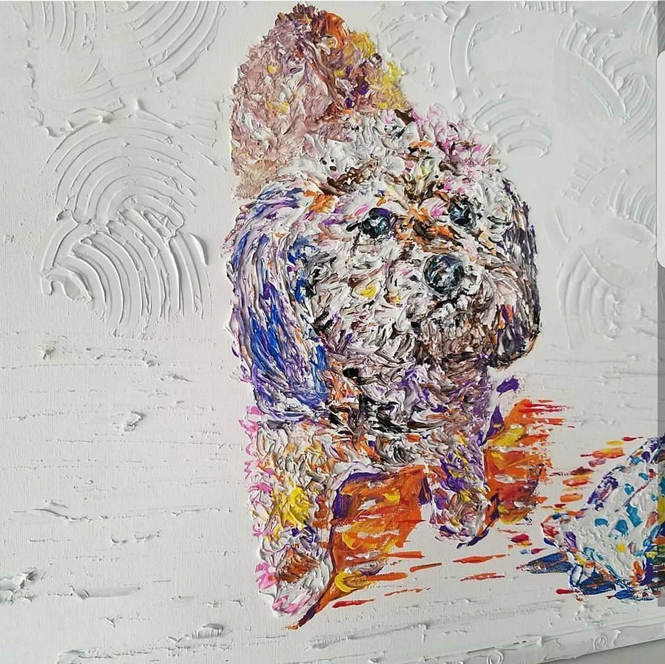 """LOVELY   Oil Acrylic on canvas 20x20"""", framed"""