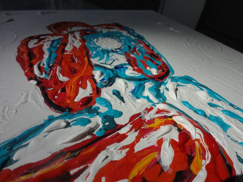 """LOVE   Oil Acylic on canvas 18x24"""""""