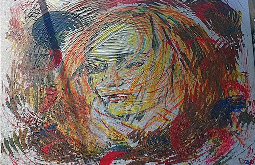 """GIRL   Acrylic on canvas 20x20"""""""