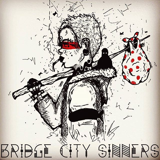 Fuck YES @mc__monster for sketching this buddy out. We are thinking stickers and patches. #punkrock #hobo #bridgecitysinners #pdx #pdxart #art #portland #folkpunk #pdxmusic